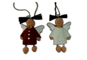 Mini Wooden Angel - Red or White