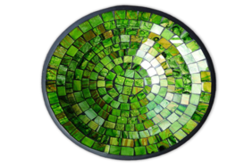 Mosaic Bowl / Green Glitter 40cm