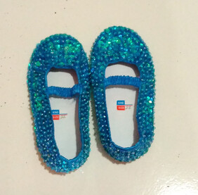 Sequin Shoes - Turquoise