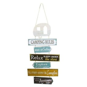 Camping Rules Wooden Sign
