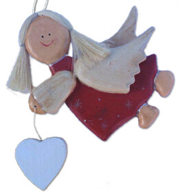 Wooden Angel Red (L)