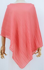 Summer Coverall - Crinkle Pleat- Coral