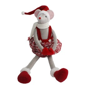 Red & White  Christmas Mouse