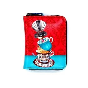 Leather NZ Print Card Wallet - Cracking Up - Angie Dennis