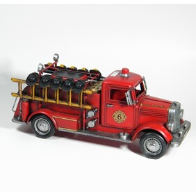 Replica Vintage Fire Truck with Helmtes