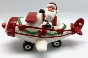 LED Musical Santa in Plane