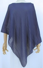 Summer Coverall - Crinkle Pleat-Navy